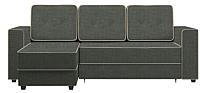 Диван угловой Настоящая мебель Принстон НПБ рогожка левый (серый) -