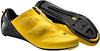 Велотуфли Mavic CXR Ultimate 15 / 367229 (р-р 8, желтый/черный) -