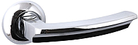 Ручка дверная VELA Morion (белый никель/хром) -