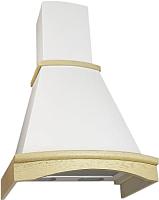 Вытяжка купольная Elikor Ротонда 50П-650-П3Л (бежевый/дуб белый/патина) -