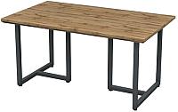 Обеденный стол Грифонсервис Loft СМ10 (черный/палисандр) -