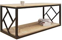 Обеденный стол Грифонсервис Loft СМ15 (черный в золоте/тик) -