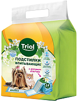 Одноразовая пеленка для животных Triol С ароматом жасмина / 30551015 (24шт) -