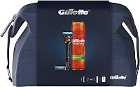 Набор косметики для бритья Gillette Fusion ProGlide Flexball станок+2 кассеты+гель для бритья+чехол -