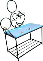 Банкетка Грифонсервис Микки Маус ПБ12 (черный в золоте/синий с рисунком) -