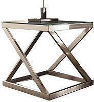 Журнальный столик Грифонсервис Loft СМ19 (шоколад с золотом/палисандр) -