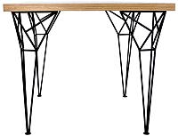 Обеденный стол Грифонсервис Loft Эйфель СМ17 (черный/орех) -