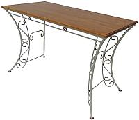 Обеденный стол Грифонсервис КОВ9 (белый/орех) -