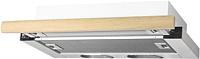 Вытяжка телескопическая Elikor Интегра 60П-400-В2Л (белый/дуб неокрашенный) -