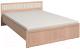 Полуторная кровать Глазов Милана 2 140x200 (дуб отбеленный) -