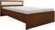 Полуторная кровать Глазов Милана 3 120x200 (орех) -