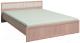 Двуспальная кровать Глазов Милана 5 180x200 (дуб отбеленный) -