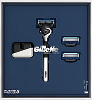 Набор косметики для бритья Gillette FusProGldFlexball станок+магнитная подставка -