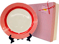 Тарелка столовая мелкая Maestro MR-10009-04 (красный) -