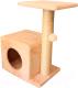 Комплекс для кошек Cat House С боковой полкой 0.58 (сизаль бежевый) -
