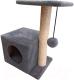 Комплекс для кошек Cat House С боковой полкой 0.58 (сизаль серый) -