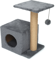 Комплекс для кошек Cat House С боковой полкой 0.58 (джут серый) -