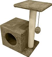 Комплекс для кошек Cat House С боковой полкой 0.58 (хлопок бежевый) -