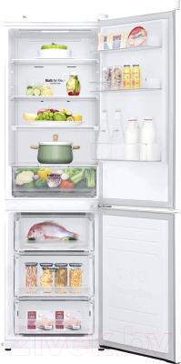 Холодильник с морозильником LG GA-B459MQSL