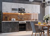 Готовая кухня SV-мебель Лилия 1.7 (белый/цемент темный/фенди) -