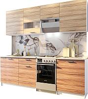 Готовая кухня SV-мебель Лилия 1.7 (белый/эбони) -