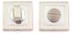 Фиксатор дверной защелки VELA WC-Quadro (белый никель/хром) -
