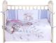 Комплект в кроватку Альма-Няня Детская история 6. Акварельные зайки (сатин) -