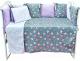 Комплект в кроватку Alis Кубики NEW 6 Розовые котики (бязь) -