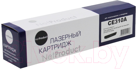 Купить Тонер-картридж NetProduct, N-CE310A, Китай, черный