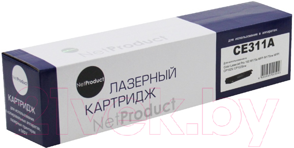 Купить Тонер-картридж NetProduct, N-CE311A, Китай, голубой