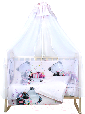 Комплект в кроватку Alis Счастливчик NEW 7 Девочка (бязь)