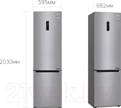 Холодильник с морозильником LG GA-B509MMDZ
