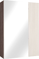 Шкаф навесной Астрид Мебель Бриз-8 с зеркалом / ЦРК.БРЗ.08 (анкор темный/анкор белый) -