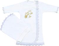 Набор для крещения Alis Ангел для девочки (вышивка золото, интерлок пенье) -