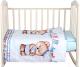 Комплект постельный в кроватку Alis Мишка морячок 3 (поплин) -