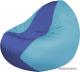 Бескаркасное кресло Flagman Classic К2.1-54 (синий/голубой) -