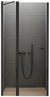 Душевая дверь New Trendy New Soleo D-0242A (100х195, черный) -