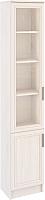Шкаф-пенал с витриной Астрид Мебель Принцесса L-400 / ЦРК.ПРН.21 (анкор белый) -