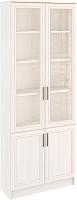 Шкаф с витриной Астрид Мебель Принцесса L-800 / ЦРК.ПРН.23 (анкор белый) -