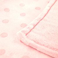 Плед детский ОТК Горох 75x100 / MV01364/3RO (розовый) -
