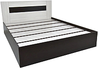 Двуспальная кровать Астрид Мебель Сити-1 / ЦРК.СИТ.01 (венге/анкор белый) -