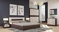 Комплект мебели для спальни Астрид Мебель Сити-3 / ЦРК.СИТ.03 (анкор темный/анкор белый) -