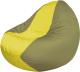 Бескаркасное кресло Flagman Classic К2.1-68 (желтый/оливковый) -