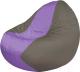 Бескаркасное кресло Flagman Classic К2.1-116 (темно-серый/сиреневый) -