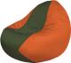 Бескаркасное кресло Flagman Classic К2.1-163 (темно-оливковый/оранжевый) -