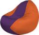 Бескаркасное кресло Flagman Classic К2.1-164 (фиолетовый/оранжевый) -