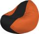 Бескаркасное кресло Flagman Classic К2.1-165 (черный/оранжевый) -