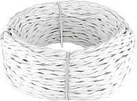 Кабель Werkel Retro витой 2х1.5 (50м, белый) -