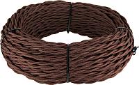 Кабель Werkel Retro витой 2х1.5 (50м, коричневый) -