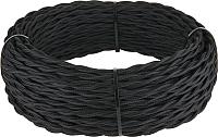 Кабель Werkel Retro витой 3х1.5 (50м, черный) -